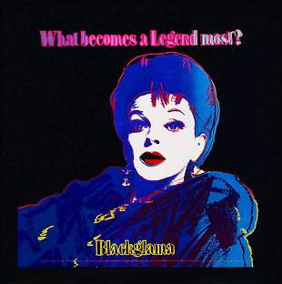 "Andy Warhol ""Blackglama (Judy Garland) 1985 Silkscreen"