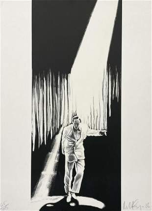 Robert Longo, Talking Heads, Lithograph, signed and