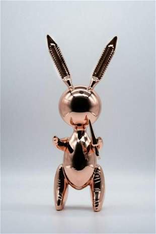 JEFF KOONS After, Rose gold balloon rabbit, Limited Ed.