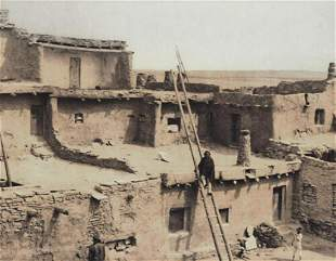 EDWARD CURTIS, AMERICAN INDIAN Zuni Houses 1900