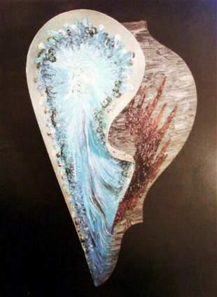 "Erte, Mixed media 1/1 Sculpture ""Interior Life"" From"
