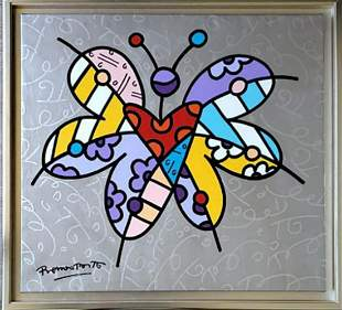 ROMERO BRITTO, Butterfly Butterfly - 2006, Acrylic on
