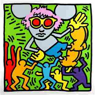 ANDY WARHOL - KEITH HARING, ANDY MOUSE II, SCREEN PRINT