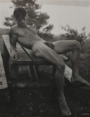BRUCE WEBER Male Nude PAUL Picnic Table 1988