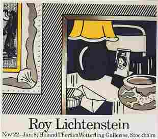 Roy Lichtenstein Two Paintings - 1986, Hand signed
