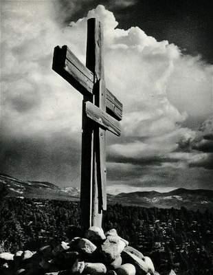 ANSEL ADAMS Wooden Cross Truchas New Mexico, 1950s