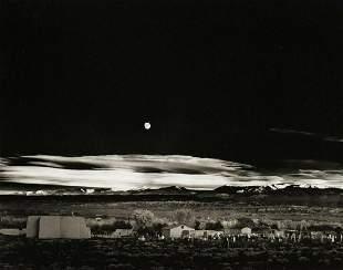 ANSEL ADAMS Moonrise Hernandez New Mexico, 1944