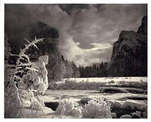 ANSEL ADAMS Yosemite Snow River Mountain, 1949