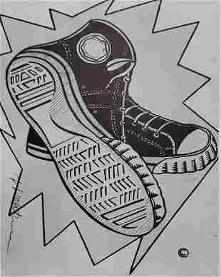 ROY LICHTENSTEIN, Keds 1962, Hand signed lithograph fra