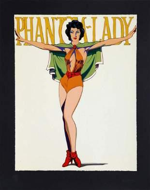 Mel Ramos, Phantom Lady (Black). Screenprint S/N