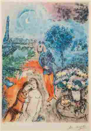 """Marc Chagall """"Serenade"""" limited edition lithograph"""
