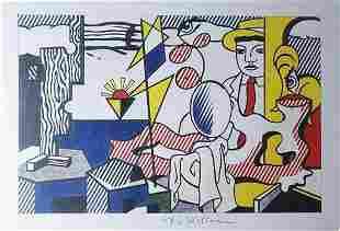"""Roy Lichtenstein - """"Figures With Sunset"""" 1978 Signed"""