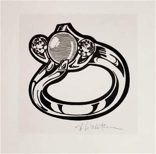 ROY LICHTENSTEIN, The ring 1961, Hand signed lithograph
