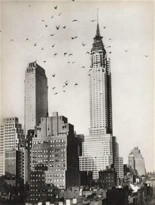 920s New York City Chrysler Building Under
