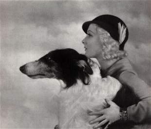 ALFRED CHENEY JOHNSTON Woman Borzoi, 1935
