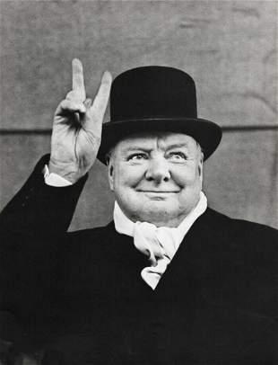Alfred Eisenstaedt, 1951 Winston Churchill Victory