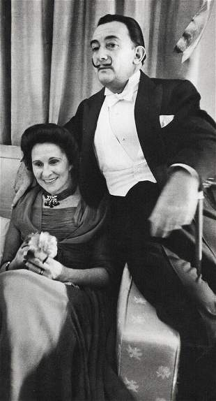 ALFRED EISENSTAEDT, 1957 Salvador Dali Artist & Wife