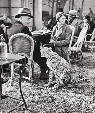 ALFRED EISENSTAEDT, couple with CHEETAH France - 1930