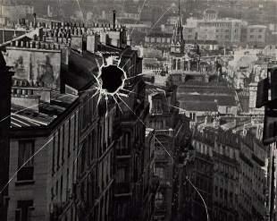 ANDRE KERTESZ, 1929 Surreal Paris Cityscape Broken