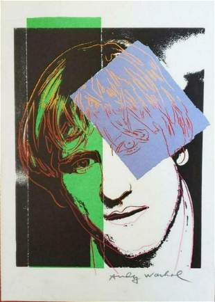 Andy Warhol - Gerard Depardieu, Vogue Lithograph