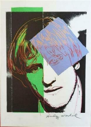 Andy Warhol - Gerard Depardieu, Vogue Lithograph