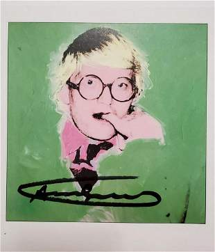 Andy Warhol, David Hockney, Signed offset lithograph
