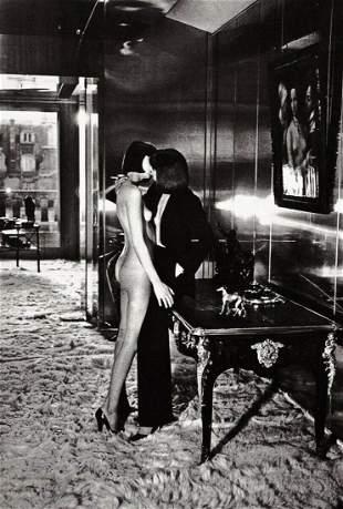HELMUT NEWTON, 1977 Female Models D'Orsay Kiss
