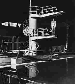 HELMUT NEWTON, Diving Tower, Old Beach Hotel, Monte