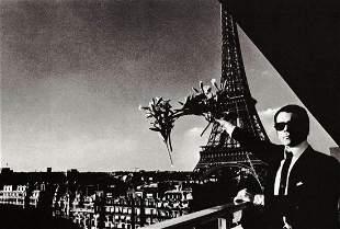 HELMUT NEWTON, KARL LAGERFELD Eiffel Tower, 1970's