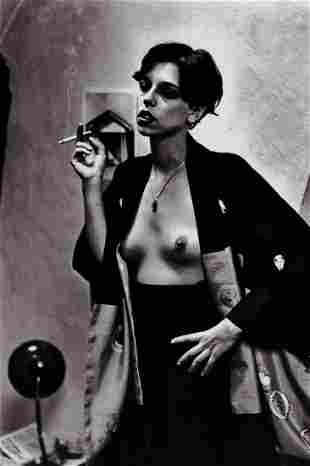HELMUT NEWTON, TESSA Poet Smoking, 1975