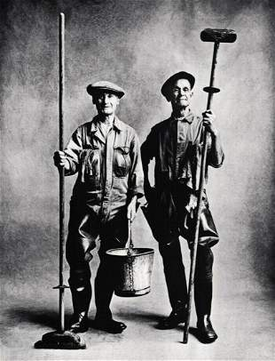 Irving Penn, London Lorry Washer Men Window Worker,