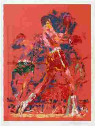 """LeRoy Neiman """"Red Boxers - 1973"""" serigraph Signed &"""