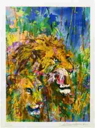 Leroy Neiman, Lions From the Safari Suite, Signed &