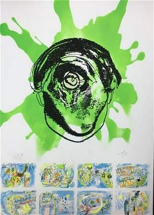 Roberto Matta, 'Homage to Federico Garcia Lorca 1999'