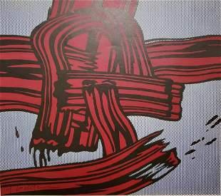 Roy Lichtenstein, 1971 Red Painting Brush Stroke