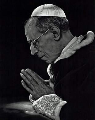 YOUSUF KARSH, 1949 Vintage, POPE PIUS XII