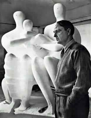 YOUSUF KARSH, 1949 Vintage Henry Moore