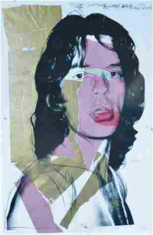 """ANDY WARHOL """"MICK JAGGER 1975"""" ROLLING STONES FRAMED"""