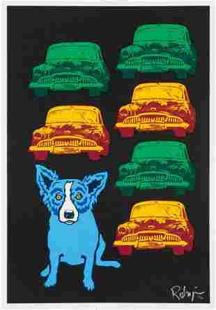 George Rodrigue, Junkyard Dog, Signed & numbered