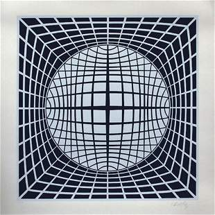 VASARELY, serigraph TER UR, Signed & Numbered