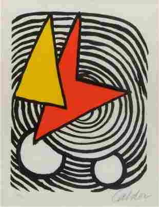 Alexander Calder, Triangle and Quadrilateral - 1973,