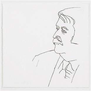 Alex Katz, Seated Man, 1980. Signed, Numbered, Etching