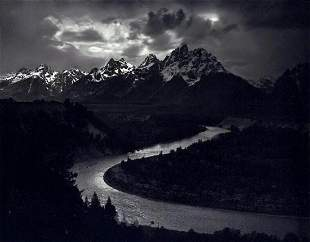 ANSEL ADAMS, 1942 Grand Tetons Snake River