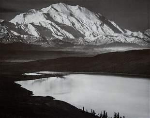 ANSEL ADAMS, 1947 Mount McKinley Denali Alaska Lake