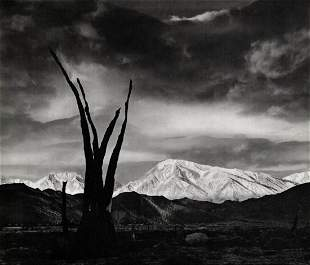 ANSEL ADAMS, 1948 Mount Tom Sunrise Landscape