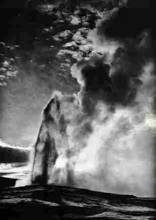 ANSEL ADAMS, 1959 Old Faithful Geyser Yellowstone