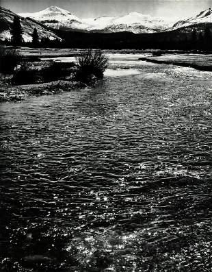 ANSEL ADAMS, 1950's River Mountain Yosemite Valley