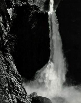 ANSEL ADAMS, 1950s Yosemite Water Falls
