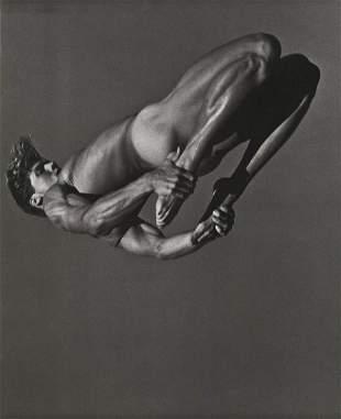 BRUCE WEBER, Male Nude RIC ARANGO Back Flip - 1987
