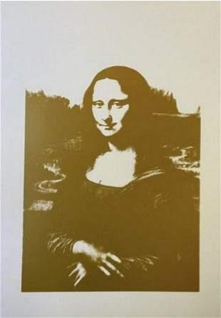 Andy Warhol Da Vinci's Mona Lisa Sunday B Morning Gold